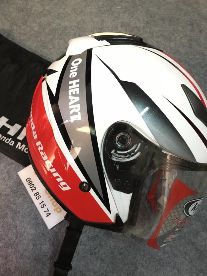 Mũ 3/4 Honda Racing – thương hiệu KYT Helmet