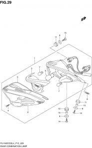 F.29 – ĐÈN HẬU SAU – SUZUKI SATRIA FU – RAIDER FU 150 XĂNG CƠ