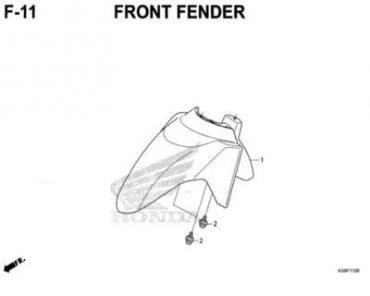 F11 – DÈ TRƯỚC – HONDA VARIO 150 (K59J)