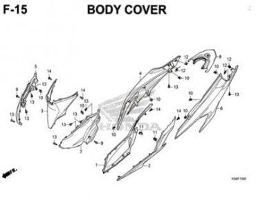 F15 – BỘ NHỰA PHÍA SAU – HONDA VARIO 150 (K59J)