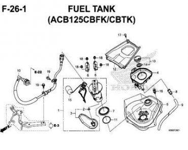 F26-1 – THÙNG XĂNG – HONDA VARIO 125 (K60R)