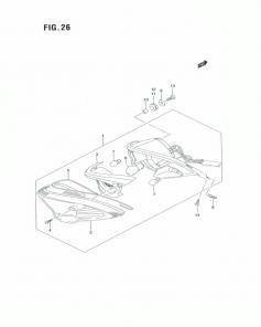 F.26 – ĐÈN HẬU SAU – SUZUKI SATRIA F150 K6 – K9