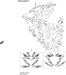 F.483A – BỘ NHỰA YẾM TRƯỚC – SUZUKI SATRIA FI – RAIDER FI 150