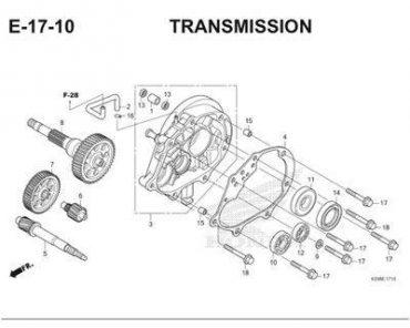 E17-10 – BỘ TRUYỀN ĐỘNG – HONDA VARIO 150 eSP (K59)