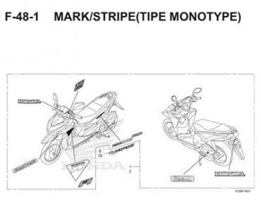 F48-1 – TEM XE MONOTYPE – HONDA VARIO 150 eSP (K59)
