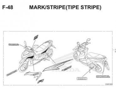 F48 – TEM XE STRIPE – HONDA VARIO 150 eSP (K59)