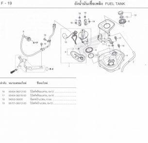 F19-1 – THÙNG XĂNG – Honda Click 125i Model 2015