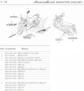 F32 – TEM XE – Honda Click 125i Model 2015