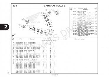 E3 – TRỤC CAM/XUPAP – HONDA SUPRA GTR 150 V2 (K56W)