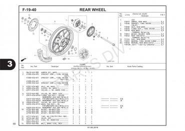 F19-40 – BÁNH MÂM SAU – HONDA SUPRA GTR V2 150 (K56W)