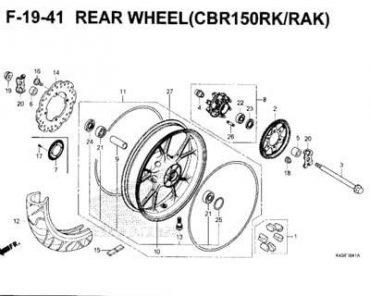 F19-41 – BÁNH MÂM SAU – HONDA CBR150R (K45N)
